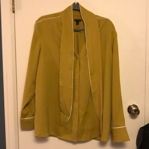 Ann Taylor Mustard color blouse